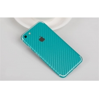 Carbon Fiber iPhone 7 | iPhone 7 Plus Decal Wrap Skin Set (Aqua)