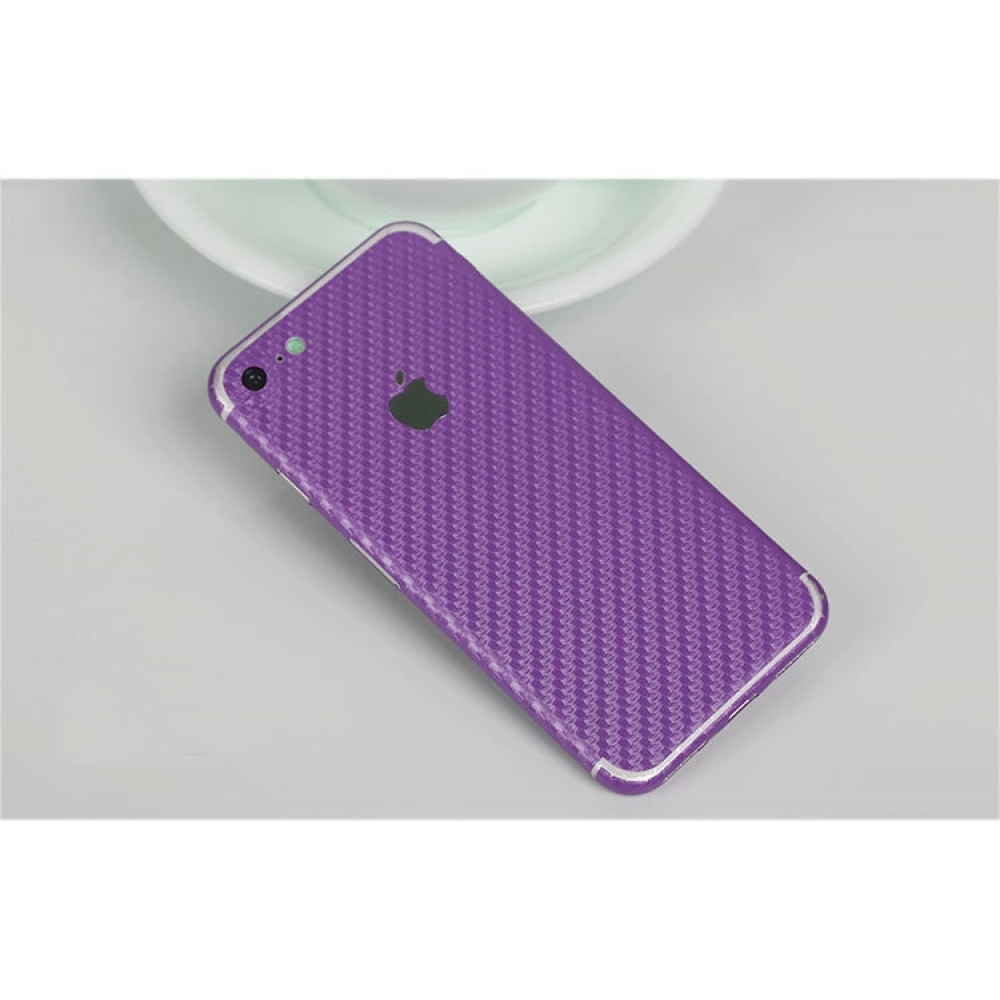 10% OFF + FREE SHIPPING, Buy Best PDair Top Quality Carbon Fiber iPhone Decal Wrap Skin Set (Purple) which is available for iPhone 7, iPhone 7 plus. You also can go to the customizer to create your own stylish leather case if looking for additional colors