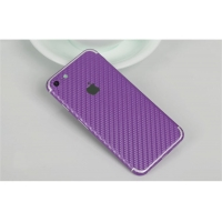 Carbon Fiber iPhone 7 | iPhone 7 Plus Decal Wrap Skin Set (Purple)