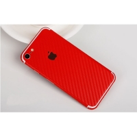 Carbon Fiber iPhone 7 | iPhone 7 Plus Decal Wrap Skin Set (Red)