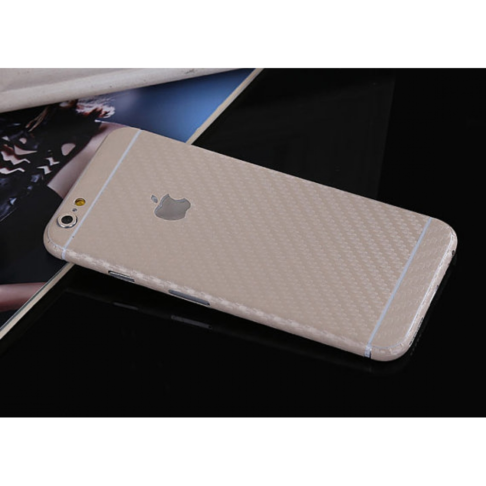 10% OFF + FREE SHIPPING, Buy PDair Carbon Fiber iPhone Decal Wrap Skin Set (Beige) which is available for iPhone 5 | iPhone 5s, iPhone 6 | iPhone 6s, iPhone 6 Plus | iPhone 6s Plus, iPhone SE. You also can go to the customizer to create your own stylish l