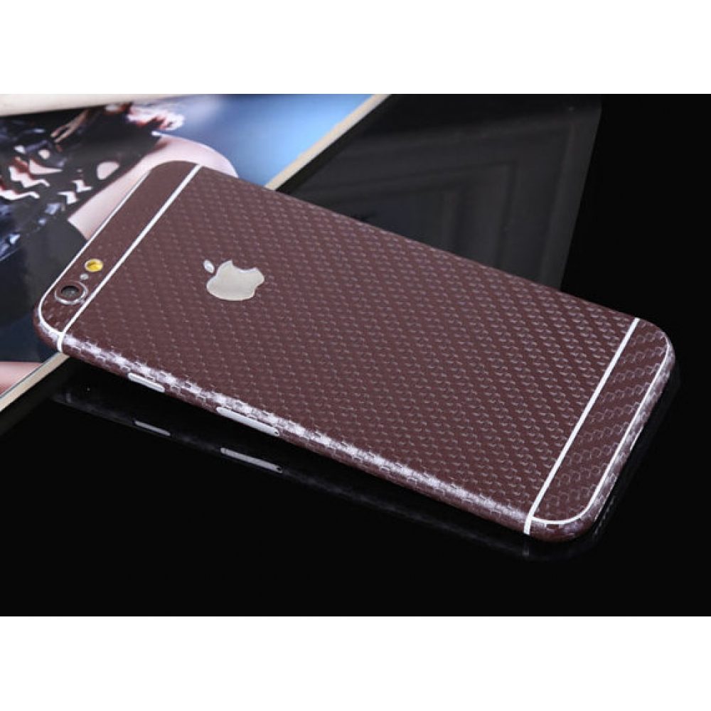 official photos fc679 28788 Carbon Fiber iPhone 6s 6 Plus SE 5s 5 Decal Wrap Skin Set Brown PDair
