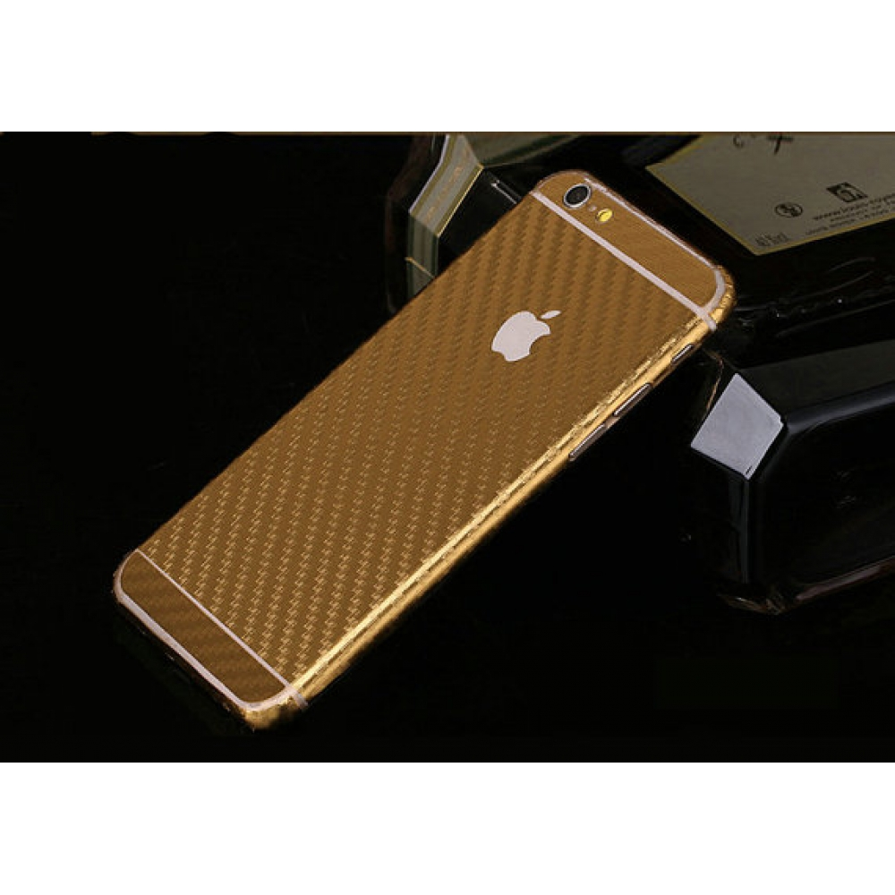 10% OFF + FREE SHIPPING, Buy PDair Top Quality Carbon Fiber iPhone Decal Wrap Skin Set Gold which is available for iPhone 6 | iPhone 6s, iPhone 6 Plus | iPhone 6s Plus, iPhone 5 | iPhone 5s SE You also can go to the customizer to create your own stylish l