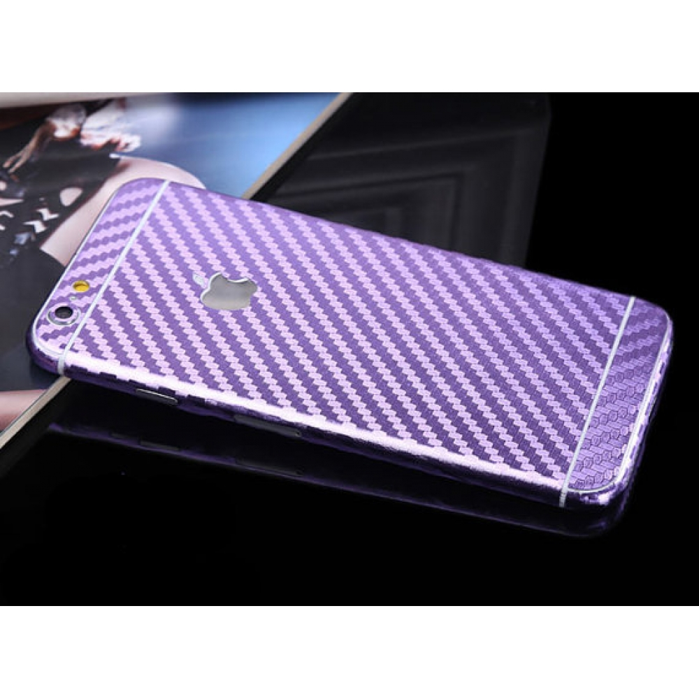 10% OFF + FREE SHIPPING, Buy Best PDair Carbon Fiber iPhone Decal Wrap Skin Set Purple which is available for iPhone 6 | iPhone 6s, iPhone 6 Plus | iPhone 6s Plus, iPhone 5 | iPhone 5s SE. You also can go to the customizer to create your own stylish leath
