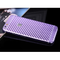 Carbon Fiber iPhone 6s 6 Plus Decal Wrap Skin Set (Purple)