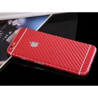 Carbon Fiber iPhone 6s 6 Plus Decal Wrap Skin Set (Red)