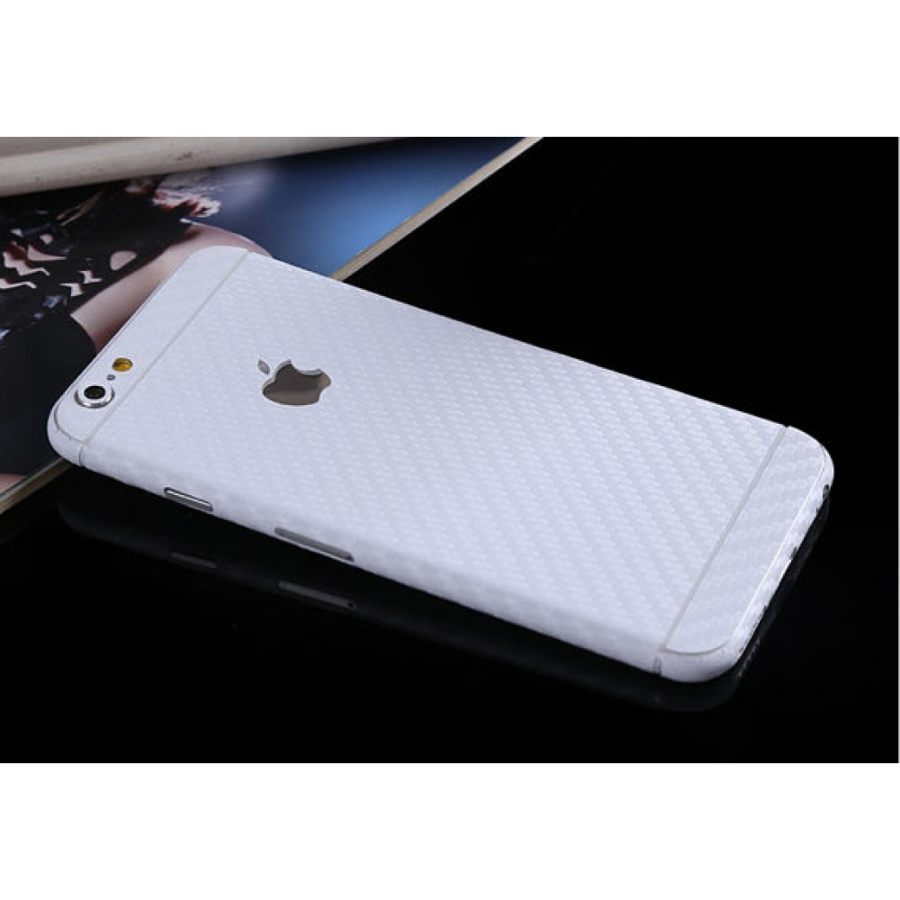 10% OFF + FREE SHIPPING, Buy PDair Carbon Fiber iPhone Decal Wrap Skin Set (White) which is available for iPhone 5 | iPhone 5s, iPhone 6 | iPhone 6s, iPhone 6 Plus | iPhone 6s Plus, iPhone SE. You also can go to the customizer to create your own stylish l