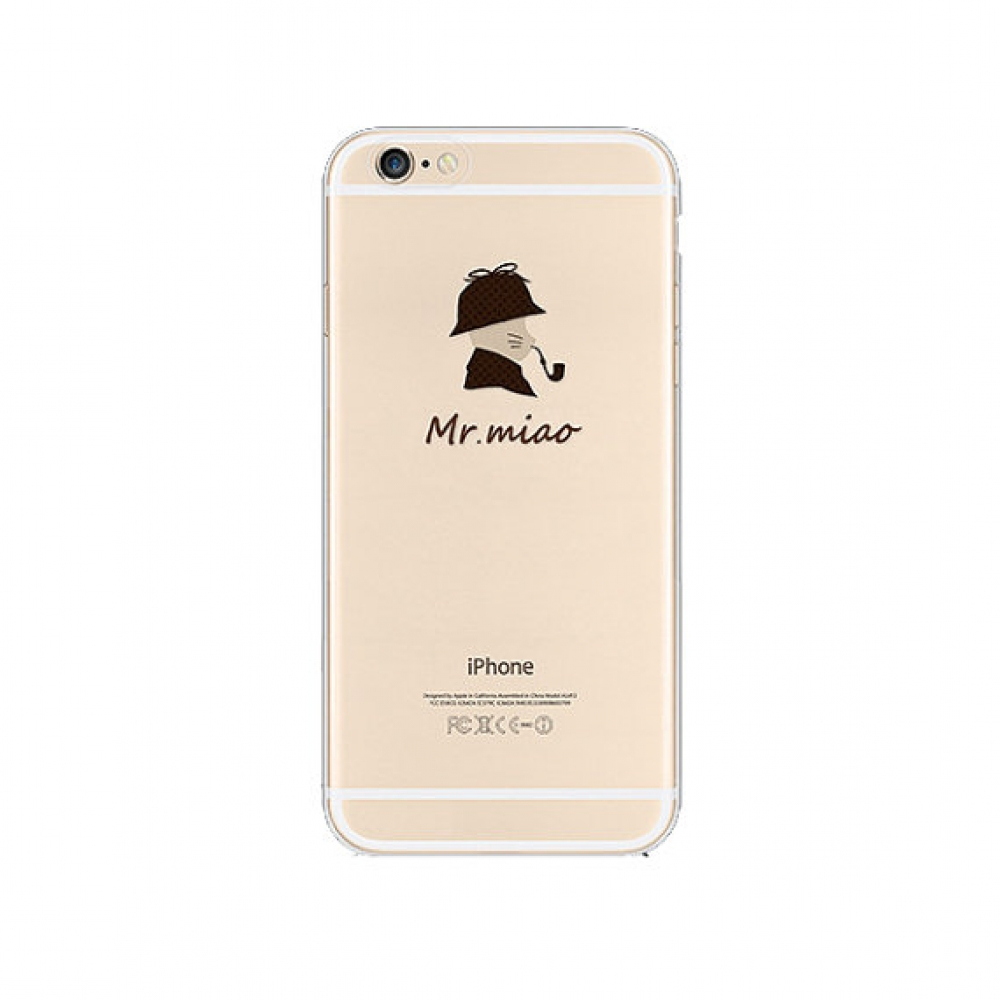 10% OFF + FREE SHIPPING, Buy PDair iPhone Pattern Printed Soft Clear Case Cat Pipe which is available for iPhone 5 | iPhone 5s, iPhone 6 | iPhone 6s, iPhone 6 Plus | iPhone 6s Plus, iPhone SE. You also can go to the customizer to create your own stylish l