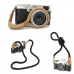 Cotton Braided Micro-single Camera Shoulder Neck Strap / Hand Strap handmade leather case by PDair