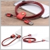 Nylon Micro USB or Lightning to USB Sync Charging Data Cable (Red) protective carrying case by PDair