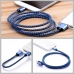 Nylon Micro USB or Lightning to USB Sync Charging Data Cable (Blue) protective carrying case by PDair