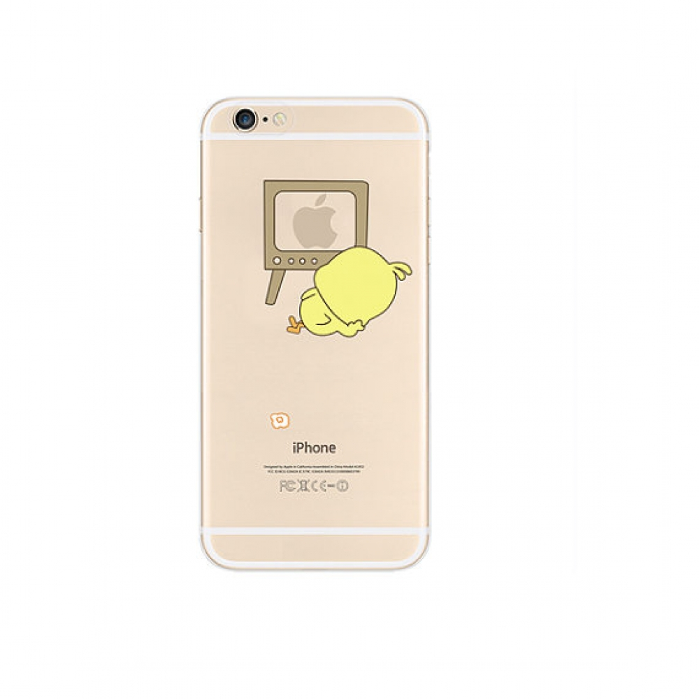 10% OFF + FREE SHIPPING, Buy PDair iPhone Pattern Printed Soft Clear Case (Chick Watch TV) which is available for iPhone 6 | iPhone 6s, iPhone 6 Plus | iPhone 6s Plus, iPhone 5 | iPhone 5s SE. You also can go to the customizer to create your own stylish l