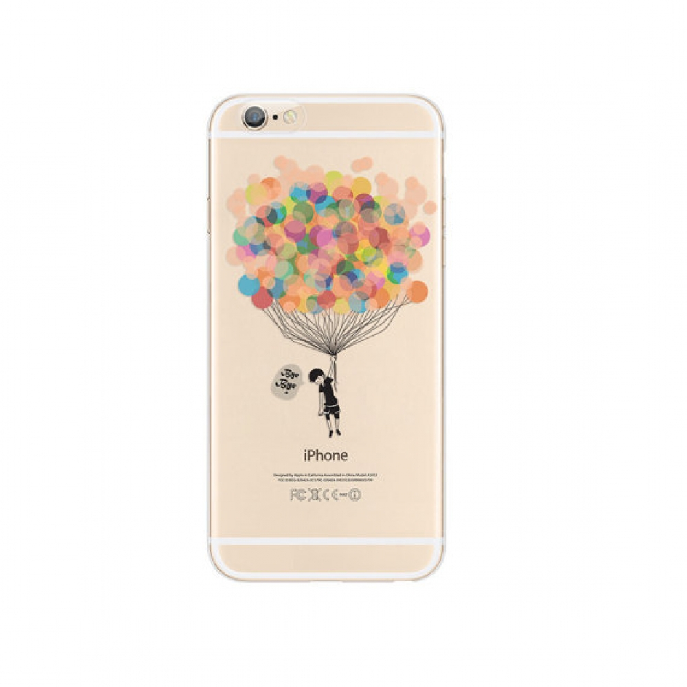 10% OFF + FREE SHIPPING, Buy PDair iPhone Soft Clear Case Colorful Balloon Bye Bye which is available for iPhone 5 | iPhone 5s, iPhone 6 | iPhone 6s, iPhone 6 Plus | iPhone 6s Plus, iPhone SE You also can go to the customizer to create your own stylish le