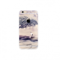 Crane Tree Scenery iPhone 6s 6 Plus SE 5s 5 Pattern Printed Soft Case
