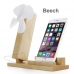 Wood Stand Holder With USB Fan for Smartphone, iPhone or Cell Phone by PDair