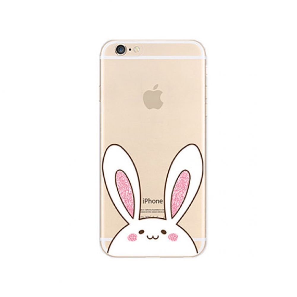 iPhone 6s 6 Plus SE 5s 5 Pattern Printed Soft Clear Case (Cute Rabbit) :: PDair