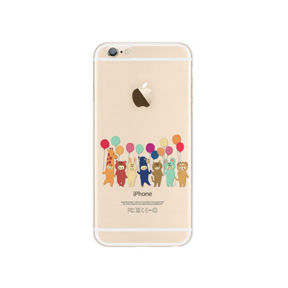 10% OFF + FREE SHIPPING, Buy PDair iPhone Soft Clear Case (Cutie Animal Party Ballon) which is available for iPhone 6 | iPhone 6s, iPhone 6 Plus | iPhone 6s Plus, iPhone 5 | iPhone 5s SE. You also can go to the customizer to create your own stylish leathe