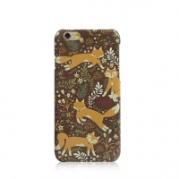 Cutie Fox Floral iPhone 6s 6 Plus SE 5s 5 Pattern Printed Hard Case