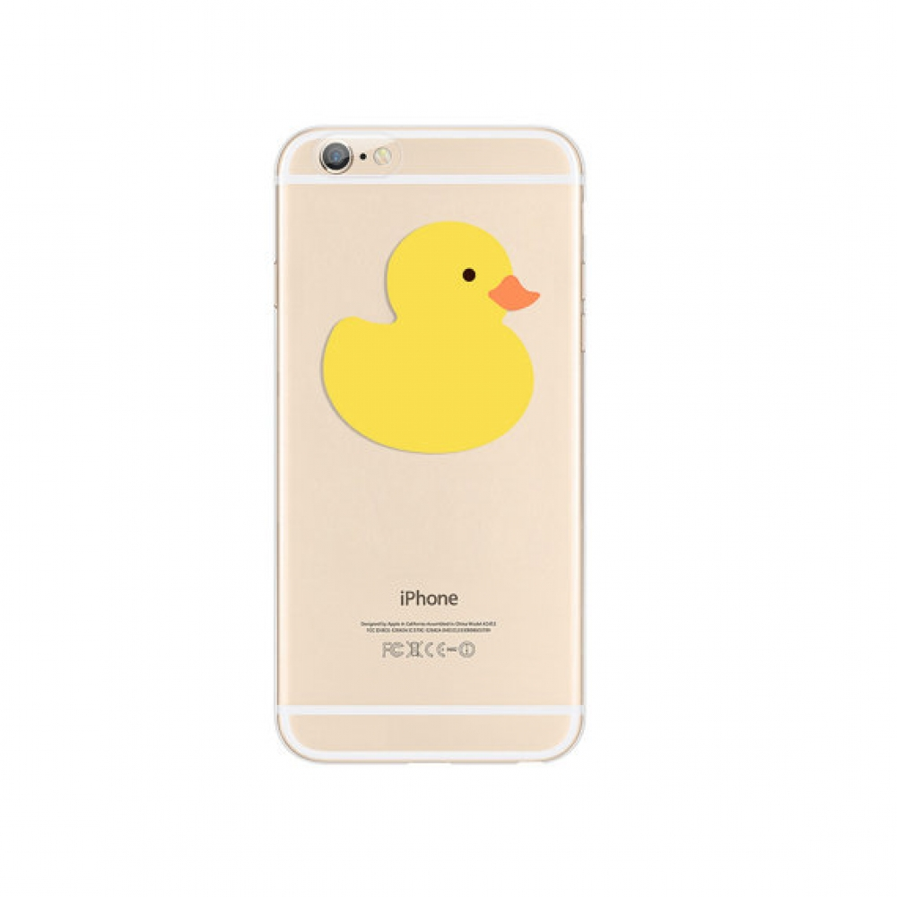 10% OFF + FREE SHIPPING, Buy PDair iPhone Pattern Printed Soft Clear Case Cutie Yellow Duck which is available for iPhone 6 | iPhone 6s, iPhone 6 Plus | iPhone 6s Plus, iPhone 5 | iPhone 5s SE You also can go to the customizer to create your own stylish l