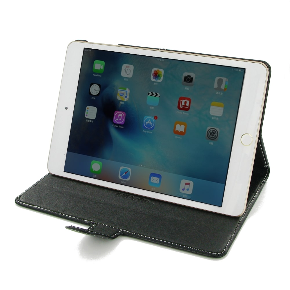 ipad mini 4 leather smart flip carry cover pdair wallet. Black Bedroom Furniture Sets. Home Design Ideas
