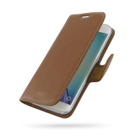 10% OFF + FREE SHIPPING, Buy PDair Top Quality Handmade Protective Samsung Galaxy S6 edge Leather Flip Carry Cover (Brown) online. Pouch Sleeve Holster Wallet You also can go to the customizer to create your own stylish leather case if looking for additio