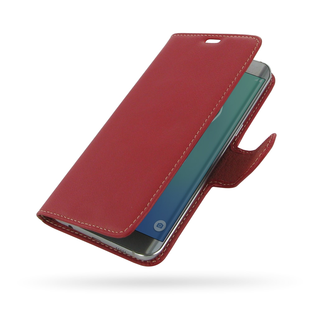 10% OFF + FREE SHIPPING, Buy PDair Top Quality Handmade Protective Samsung Galaxy S6 edge+ Plus Leather Flip Carry Cover (Red). Pouch Sleeve Holster Wallet You also can go to the customizer to create your own stylish leather case if looking for additional