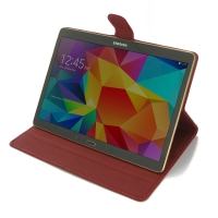 Deluxe Leather Book Case for Samsung Galaxy Tab S 10.5 SM-T800 (Red)