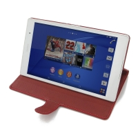 10% OFF + FREE SHIPPING, Buy PDair Quality Handmade Protective Sony Xperia Z3 Tablet Compact Leather Smart Flip Carry Cover (Red) online. You also can go to the customizer to create your own stylish leather case if looking for additional colors, patterns