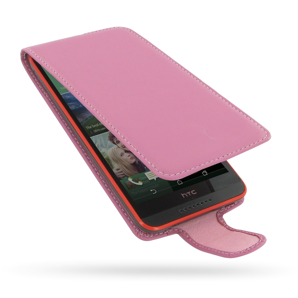 hot sale online ee01f 5a19c Deluxe Leather Flip Case for HTC Desire 820 (Petal Pink)