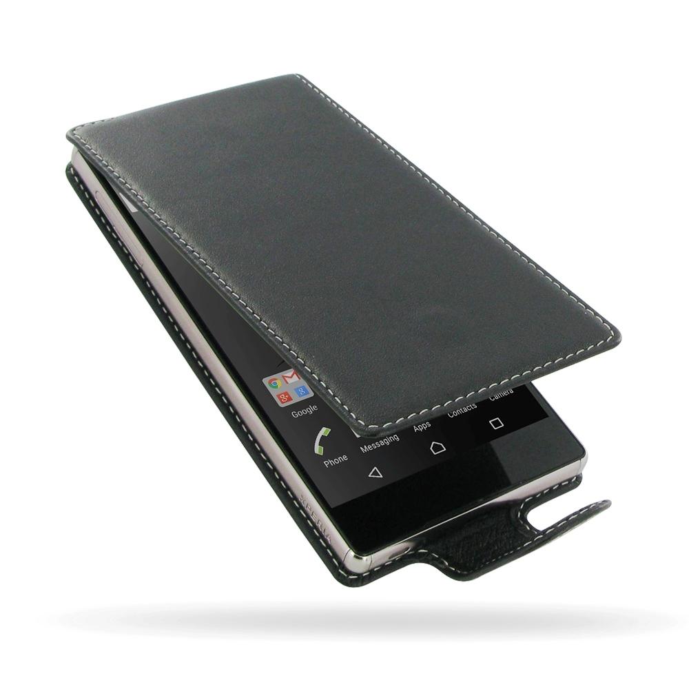 the best attitude 762c7 78e23 Deluxe Leather Flip Case for Sony Xperia Z5 Premium