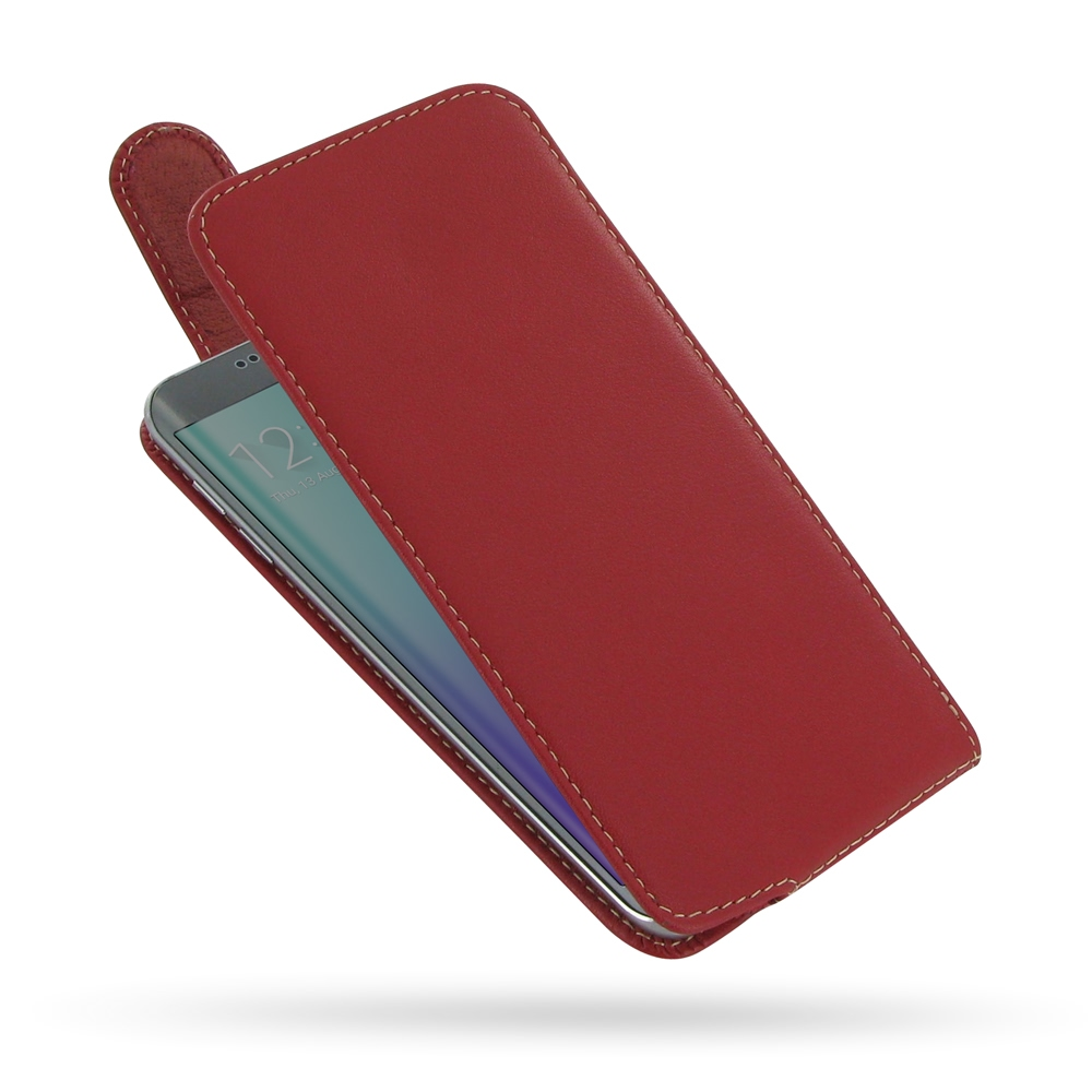 10% OFF + FREE SHIPPING, Buy Best PDair Quality Handmade Protective Samsung Galaxy S6 edge+ Plus Leather Flip Top Carry Case (Red). You also can go to the customizer to create your own stylish leather case if looking for additional colors, patterns and ty