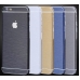 Brushed Aluminum Surface iPhone 6s 6 Plus Decal Wrap Skin Set Blue genuine leather case by PDair