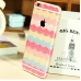 iPhone 6s 6 Plus Decal Wrap Skin Set Rainbow Lace Pattern protective carrying case by PDair