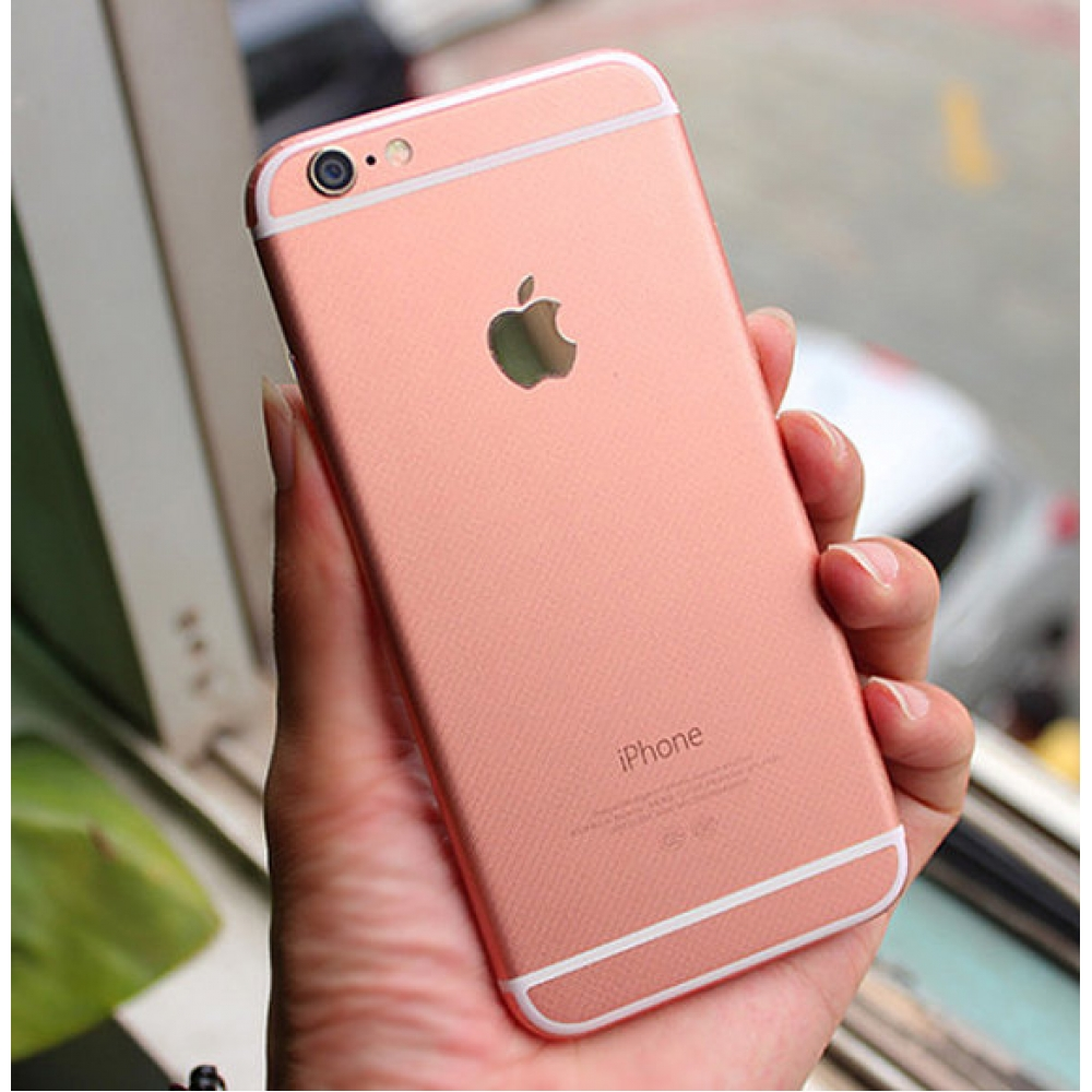 IPhone 6s 6 Plus Decal Wrap Skin Set Rose Gold Pink Protective Carrying Case