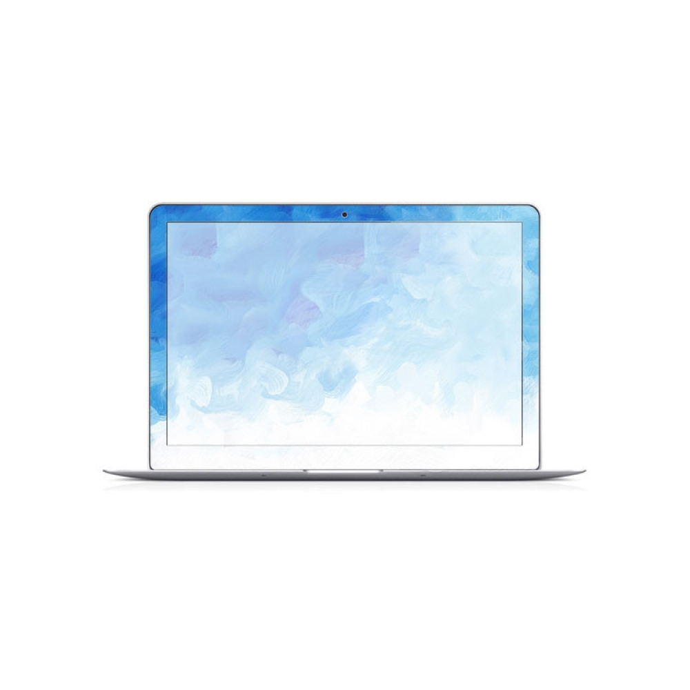 macbook air pro decal wrap skin set blue paint cloud. Black Bedroom Furniture Sets. Home Design Ideas