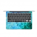 MacBook Air Pro Decal Wrap Skin Set (Ocean Oil Paint Cloud) protective carrying case by PDair
