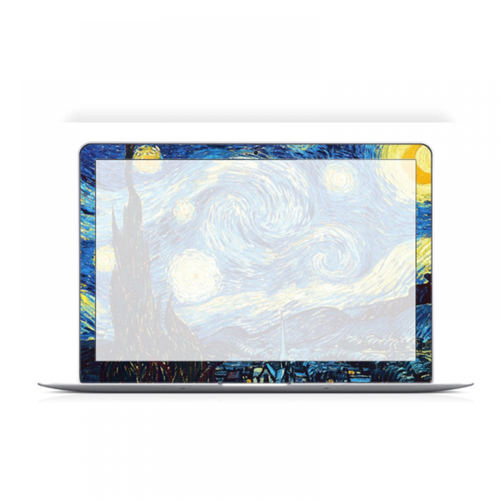 macbook air pro decal wrap skin set starry night. Black Bedroom Furniture Sets. Home Design Ideas