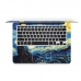 MacBook Air Pro Decal Wrap Skin Set (Starry Night) handmade leather case by PDair