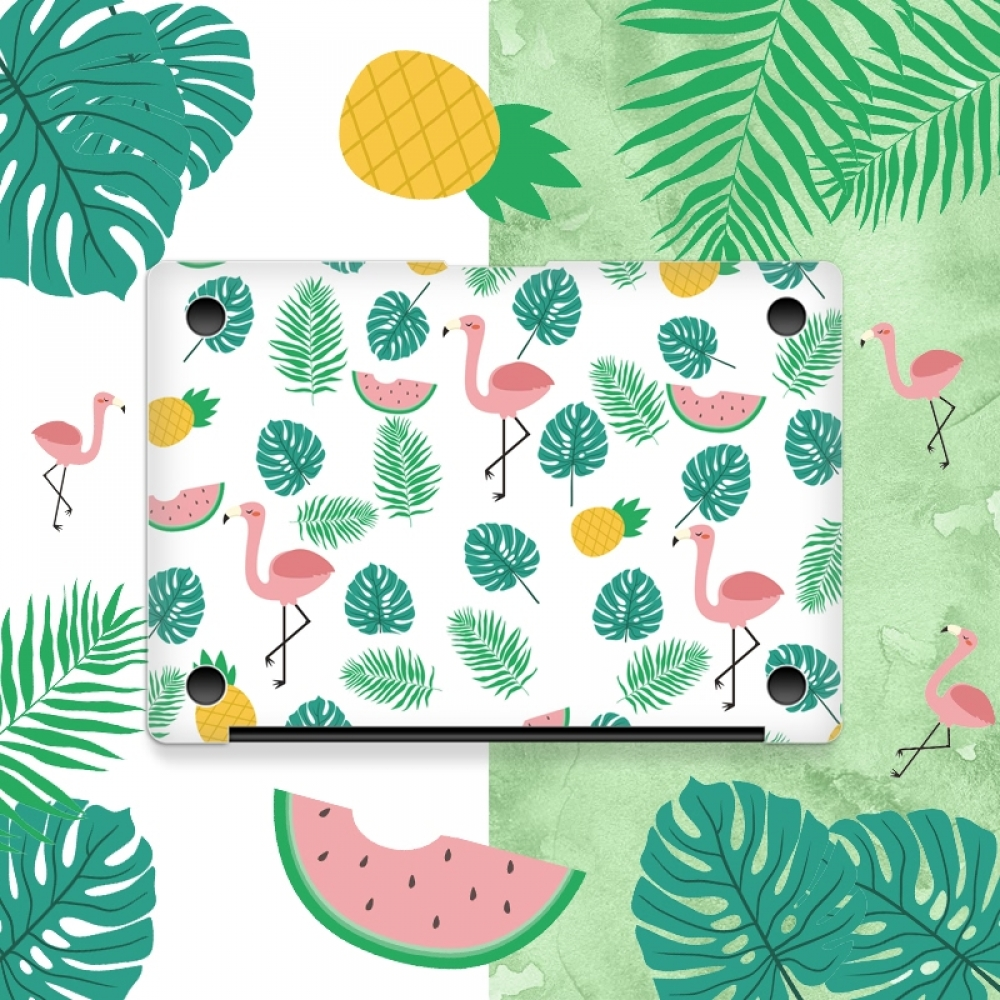 new arrival 14026 52cd5 MacBook Air Pro Decal Skin Set Colorful Flamingo Pattern PDair 10% OFF