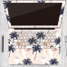 MacBook Air Pro Decal Skin Set (Flamingo Forest Pattern) handmade leather case by PDair