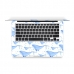 MacBook Air Pro Decal Skin Set (Whale Pattern) genuine leather case by PDair