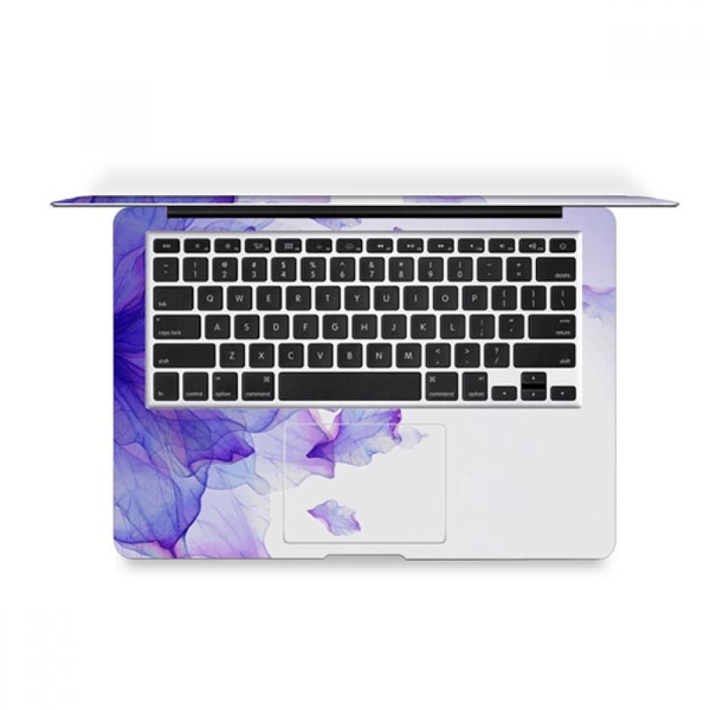 macbook air pro decal skin set gradient purple leaf. Black Bedroom Furniture Sets. Home Design Ideas