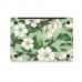 MacBook Air Pro Decal Skin Set (White Flower) handmade leather case by PDair