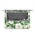 MacBook Air Pro Decal Skin Set (White Flower) genuine leather case by PDair