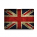 MacBook Air Pro Decal Skin Set (Vintage British flag) handmade leather case by PDair