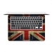 MacBook Air Pro Decal Skin Set (Vintage British flag) genuine leather case by PDair