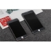 Brushed Aluminum Surface iPhone 7 7 Plus Decal Wrap Skin Set (Black) protective carrying case by PDair