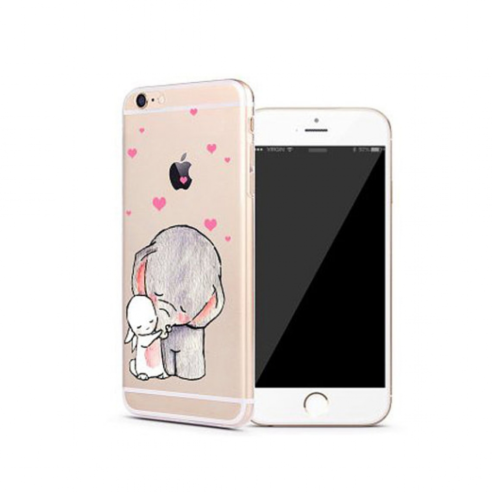 10% OFF + FREE SHIPPING, Buy PDair iPhone Soft Clear Case (Elephant Hug Rabbit Sweet Heart) which is available for iPhone 6 | iPhone 6s, iPhone 6 Plus | iPhone 6s Plus, iPhone 5 | iPhone 5s SE You also can go to the customizer to create your own stylish l