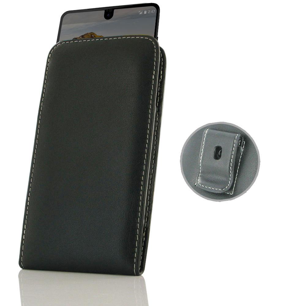 cheap for discount f1dd3 a6d79 Leather Vertical Pouch Belt Clip Case for Essential Phone | Essential PH-1