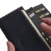 BlackBerry KEY2 Leather Continental Sleeve Wallet (Red Stitching) protective carrying case by PDair